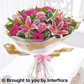 Mothers Day Pink Radiance Hand tied