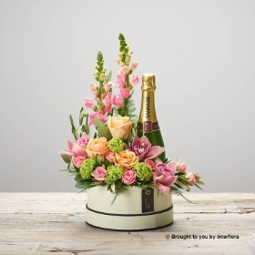 Magnificent Mix Hatbox with Champagne
