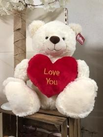 Large White Love You Bear 55cm